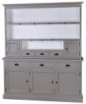Casa Padrino Landhausstil Küchenschrank Dunkelgrau / Weiß 178 x 50 x H. 210 cm - 2 Teiliger Küchenschrank mit 5 Türen und 6 Schubladen
