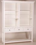 Casa Padrino Shabby Chic Landhaus Stil Schrank Buffetschrank Weiß B 158 x H 202 cm - Schrank Esszimmer