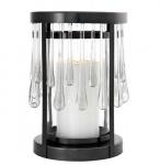 Casa Padrino Art Deco Kerzenleuchter Bronze Durchmesser 22 x H. 33 cm - Luxus Kollektion