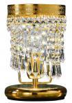 Casa Padrino Barockstil Kristall Tischleuchte Gold Ø 15 x H. 22 cm - Barock Wohnzimmermöbel