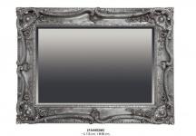 Casa Padrino Barock Wandspiegel Silber H 118 cm B 88 cm - Edel & Prunkvoll - Spiegel Silberfarben