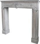 Casa Padrino Landhausstil Kaminumrandung Antik Grau 104 x 17 x H. 99 cm - Handgefertigte Shabby Chic Möbel