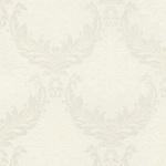 Casa Padrino Barock Textiltapete Weiß / Beige / Creme - 10, 05 x 0, 53 m - Stofftapete mit Vlies Struktur