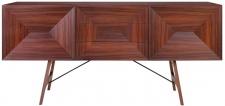 Casa Padrino Luxus Rosenholz Sideboard mit 2 Türen und 3 Schubladen Braun 200 x 50 x H. 90 cm - Luxus Qualität