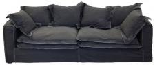 Casa Padrino Luxus Wohnzimmer Sofa Vintage Dunkelgrau 240 x 100 x H. 80 cm - Luxus Qualität