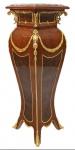 Casa Padrino Barock Säule Mahagoni / Gold - Beistelltisch - Säule 126 x 40 cm