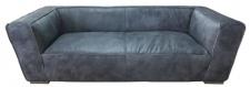 Casa Padrino Luxus Sofa Titan Grau 228 x 112 x H. 67 cm - Echtleder Möbel