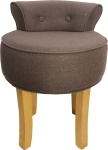 Casa Padrino Designer Hocker Boston Mittelbraun - Barock Schminktisch Stuhl