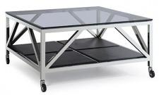 Casa Padrino Luxus Couchtisch Silber 100 x 100 x H. 50 cm - Wohnzimmer Möbel