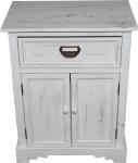 Casa Padrino Shabby Chic Landhaus Stil Kommode mit Schubladen Antik Weiß B 50 cm, H 64 cm - Antik Kommode