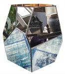 Casa Padrino Designer Beistelltisch mit antikem Spiegelglas 65 x 50 x H. 60 cm - Designer Kollektion
