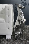 Designer Greyhound Silber Höhe 70 cm, edle Skulptur aus Aluminium - Edel & Prunkvoll - Windhund