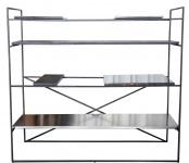 Casa Padrino Luxus Wohnzimmerschrank Schwarz 110 x 45 x H. 100, 5 cm - Designer Regalschrank