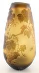 Casa Padrino Luxus Glas Deko Vase Traubenrebe Mehrfarbig Ø 17, 2 x H. 35, 8 cm - Cameoglas Blumenvase
