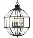 Casa Padrino Luxus Laterne - Luxus Messing Hängeleuchte Durchmesser 80 x H 98 cm