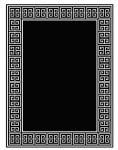 Wunderschöner Luxus Teppich aus 100% Neuseeland-Wolle mit Mäander Muster, Schwarz/Weiss, Samtweich 300 x 400 cm - Hochwertige Qualität