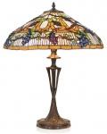 Casa Padrino Tiffany Tischleuchte / Hockerleuchte Ø 40 x H. 60 cm - Handgefertigte Leuchte aus 507 Teilen