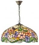 Casa Padrino Tiffany Hängeleuchte Mehrfarbig Ø 40 x H. 92 cm - Luxus Qualität