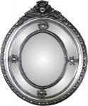 Casa Padrino Barock Spiegel Silber 100 x H. 135 cm - Edel & Prunkvoll - Massivholz