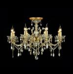 Casa Padrino Barock Decken Kristall Kronleuchter Gold 76 x H 52 cm Antik Stil - Möbel Lüster Leuchter Hängeleuchte Hängelampe