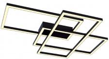 Casa Padrino Designer LED Deckenleuchte Schwarz 78 x 68 x H. 8 cm - Luxus Kollektion