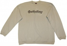 Quiksilver Skateboard Sweater Cream Hip Hop Style Sweater