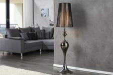 Casa Padrino Barock Stehleuchte schwarz 1-Flammig - Leuchte Lampe