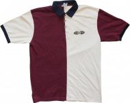 Demolition Skateboard Polo T-Shirt Bordeaux/ Cream