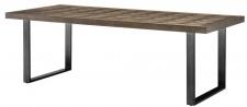 Casa Padrino Esstisch Braun / Bronze 230 x 100 x H. 75 cm - Luxus Küchentisch mit Eichenfurnier Tischplatte