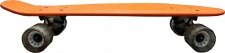 MySkateBrand Oldschool Skateboard Wood Cruiser 70s Style Orange - 25.5 x 5.875 inch - Skateboard Longboard