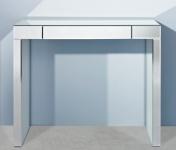 Casa Padrino Luxus Spiegelglas Konsole mit Schublade 100 x 30 x H. 83 cm - Luxus Möbel & Accessoires
