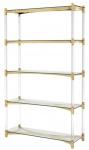 Casa Padrino Wohnzimmerschrank / Regalschrank Gold 117 x 41 x H. 200 cm - Luxus Möbel