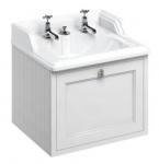 Casa Padrino Luxus Hänge-Waschschrank / Waschtisch mit Schublade 65 x 58 x H. 59 cm