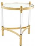 Casa Padrino Wohnzimmer Beistelltisch Gold Ø 50 x H. 55 cm - Luxus Kollektion