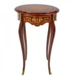 Casa Padrino Barock Beistelltisch mit Schublade Mahagoni Intarsien / Gold H75 x 50cm - Ludwig XVI Antik Stil Tisch - Möbel