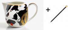 Harald Glööckler Porzellan Sahnekännchen Mod1 + Luxus Bleistift von Casa Padrino - Barock Dekoration