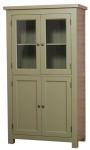 Casa Padrino Landhausstil Küchenschrank mit 4 Türen Grün 100 x 50 x H. 180 cm - Küchenmöbel