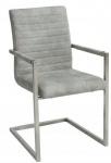 Casa Padrino Designer Freischwinger Stuhl Stone Grau - Esszimmerstuhl - moderner Wohnzimmerstuhl