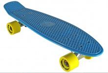 Koston / Paradise Oldschool Skateboard Plastic Cruiser 70s Style Blue - 28 x 7.25 inch - Plastik Vinyl Skateboard