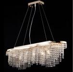 Casa Padrino Barock Decken Kristall Kronleuchter Gold 93, 3 x H 68 cm Antik Stil - Möbel Lüster Leuchter Hängeleuchte Hängelampe