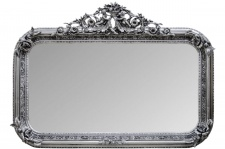 Casa Padrino Antik Stil Wandspiegel Silber 142 x H. 100 cm - Barock Wohnzimmer Möbel