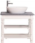 Casa Padrino Landhausstil Waschtisch Weiß / Grau 90 x 54 x H. 74 cm - Badezimmermöbel im Landhausstil
