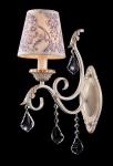 Casa Padrino Barock Kristall Wandleuchte Creme Gold 14 x H 42 cm Antik Stil - Wandlampe Wand Beleuchtung