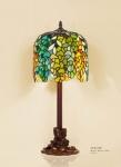 Handgefertigte Tiffany Hockerleuchte Tischleuchte Höhe 61 cm, Durchmesser 24 cm - Leuchte Lampe Leuchten, Lüster & Lampen Hockerleuchten