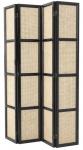 Casa Padrino Luxus Raumteiler Schwarz / Naturfarben 163 x H. 225 cm - Limited Edition
