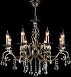 Casa Padrino Barock Kristall Decken Kronleuchter Bronze 72 x H 59 cm Antik Stil - Möbel Lüster Leuchter Hängeleuchte Hängelampe
