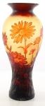 Casa Padrino Luxus Glas Deko Vase Gänseblümchen Mehrfarbig Ø 19, 2 x H. 45, 4 cm - Cameoglas Blumenvase