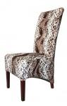 Casa Padrino Limited Edition Designer Chesterfield Esszimmer Stuhl Leopard - Club Möbel