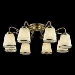 Casa Padrino Barock Decken Kronleuchter Bronze 74 x H 26 cm Antik Stil - Möbel Lüster Leuchter Hängeleuchte Hängelampe