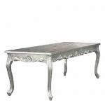 Barock Esstisch Silber 200cm - Esszimmer Tisch
